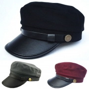 Leather Army Cap